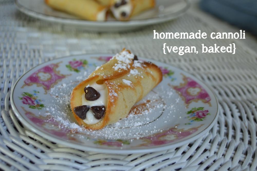 Homemade Vegan Cannolis