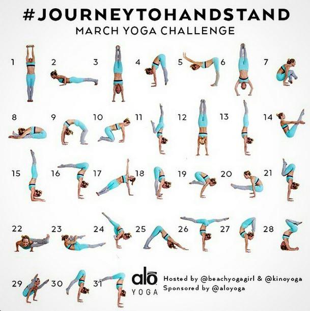 Journey To Handstand {Yoga Challenge} - Christine Robyn